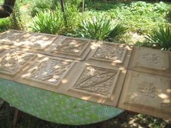 Bútor betétek , faragások  , tölgyfából  10 db