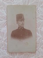 Antik katona fotó műtermi portré fénykép