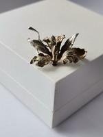 Orchidea ezüst bross szecessziós  / Art Nouveau Orchid Silver Brooch