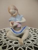 Drasche porcelán babázó kislány!