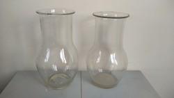 2 db nagyméretű fújt tejesüveg