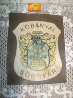 Retro Kőbányai Sörgyár reklám matrica felragasztva - 23,5 x 19 cm