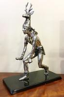Rituálé tánc,fém/antimon/ szobor,40 cm magas