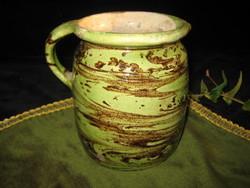 Óbánya, silk, with continuous glaze about 16 cm