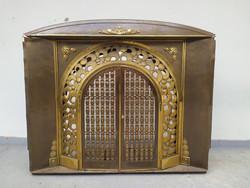 Antik Art Deco szecesszió jugendstil vaskályha kályha kandalló keret