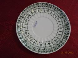 Steid Znaim angol porcelán, antik teáscsésze alátét, zöld mintával.