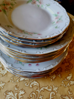 Tollazott Zsolnay porcelán csodaszép tányér készlet