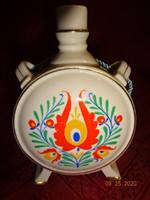 Drasche porcelán kulacs, népi motívummal, magassága 13 cm.