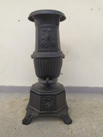 Antik vaskályha henger alakú vas kályha