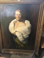 Bachó : Főúri asszony hermelin palástban