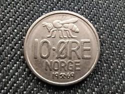 Norvégia V. Olaf (1957-1991) 10 Öre 1969 (id36308)