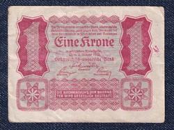 Ausztria 1 Korona 1922 Helmut Freulich felülbélyegzéssel (id10727)