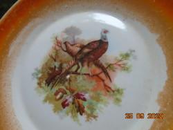 Zsolnay fácán mintás eozin mázas tányér