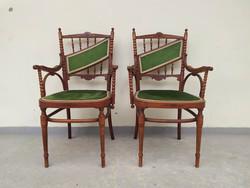 Antik 2 db Kohn Seltenheit thonet Österreich gebogen Möbel Stuhl hajlított gyűjtői ritkaság szék