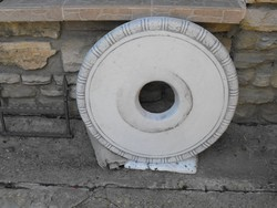Csodásan szép Új Kő asztal lap szobor alá kerti fehér műkő 70cm 40Kg