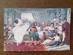 Régi képeslap 1918 Lucullus-i lakoma