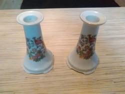 Antik Csehszlovák porcelán gyertyatartók.