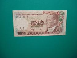 Törökország 5000 Líra 1970