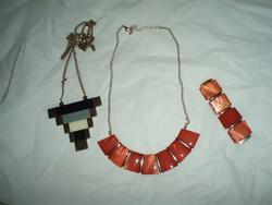 2 db vintage nyaklánc és 1 karkötő-bizsu