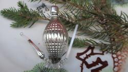 Régi figurális üveg karácsonyfadísz kancsó