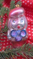 Régi figurális üveg karácsonyfadísz