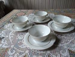 Drasche  teás csésze + alj 4+4 darab