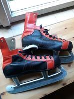 Ritka, retro férfi jéghoki/jégkorong korcsolya cipő pár- nosztalgia darab!