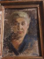 Restaurálásra szoruló Márrfy ödön szignóval portré !