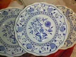 Új,hagymamintás mély tányér,olasz fajansz...24cm, .