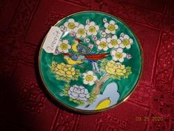 Japán porcelán asztalközép, átmérője 9 cm.