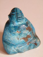 Lapis lazuli ásvány ülő buddha figura