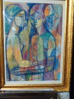 Józsa János festőművész Három grácia