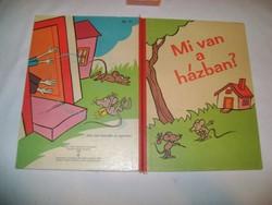 Mi van a házban? - vastag lapú képeskönyv gyerekeknek