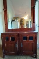 Óriás tükrös fésülködő kétajtós szekrény komód éjjeli szekrény egész alakos tükör