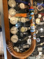 Sétapálca, túrista bot, jelvényekkel, 95 cm hosszú, gyűjtői darab.