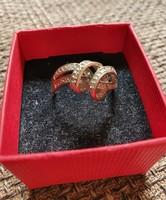 Cirkónia kövekkel díszített ezüst gyűrű