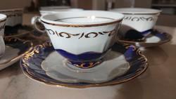 Zsolnay porcelán Pompadour III 2 db mokkás csésze
