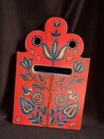 Kézzel festett postaláda előlap madárkás mintával