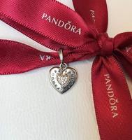 Pandora Ikonikus szív függő bicolor charm / medál