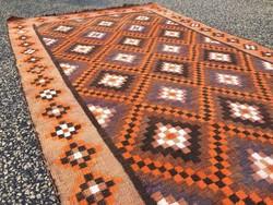 Fél antik türkmén kelim, kilim, szőtt szőnyeg