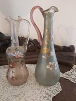 2 db olasz kézzel festett üveg karaffa