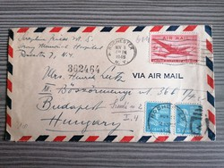 U. S. A. Futott légiposta boríték 1946