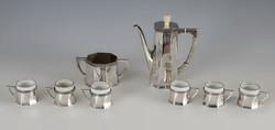 Ezüst art deco kávéskészlet
