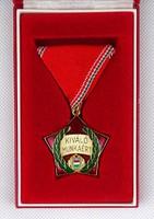 1B875 Régi szocialista kitüntetés KIVÁLÓ MUNKÁÉRT