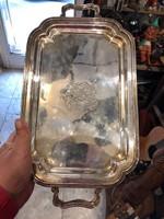 Angol királyi család fémjelével, fém tálca, 40 x 23 cm-es ritkaság.