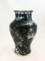 Kínai rekeszzománc váza 28 cm