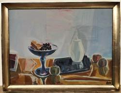 Csík István (1930) Csendélet c.Képcsarnokos festménye 86x66cm EREDETI GARANCIÁVAL !!