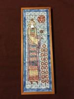Vén Edit: A  királynő kerámia falikép