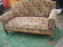 Antik, restaurálandó, kanapé