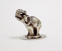 Ezüst elefánt miniatűr (ZAL-Ag89894)
